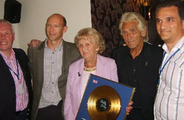 Billy Fury's Mum and Brother Gold Disc from Decca Records